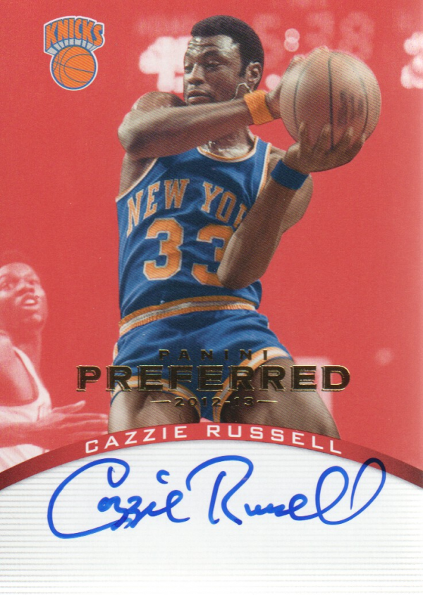 2012-13 Panini Preferred #118 Cazzie Russell PS AU/74