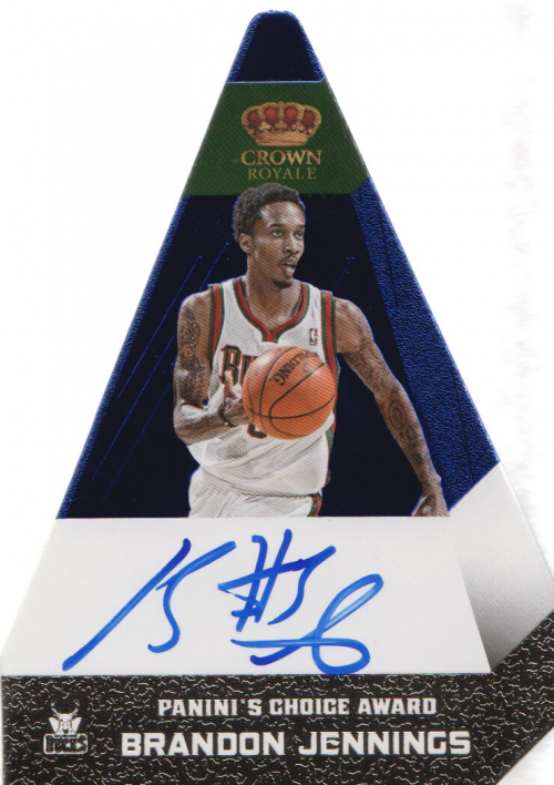 2012-13 Panini Preferred Blue #16 Brandon Jennings PC AU/20