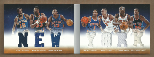 2012-13 Panini Preferred New York Memorabilia #2 Maurice Cheeks/Patrick Ewing/John Starks/Earl Monroe/Anthony Mason/Bill Cartwright/Mark Jackson