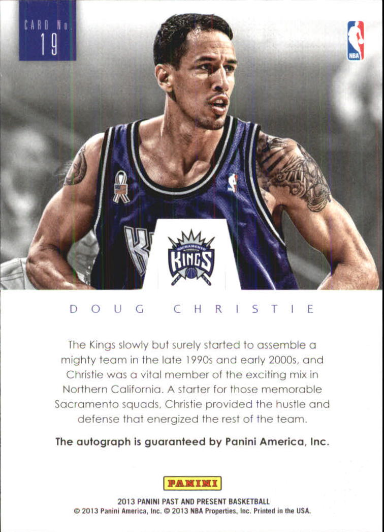 2012-13 Panini Past and Present Elusive Ink #19 Doug Christie