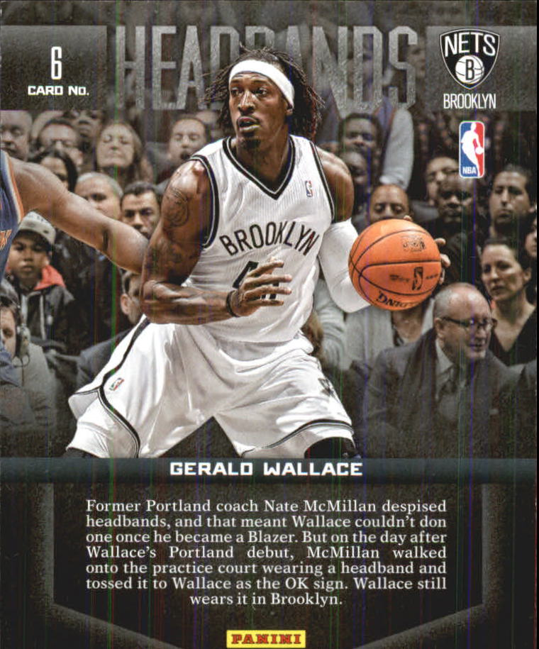 2012-13 Panini Past and Present Headbands #6 Gerald Wallace back image