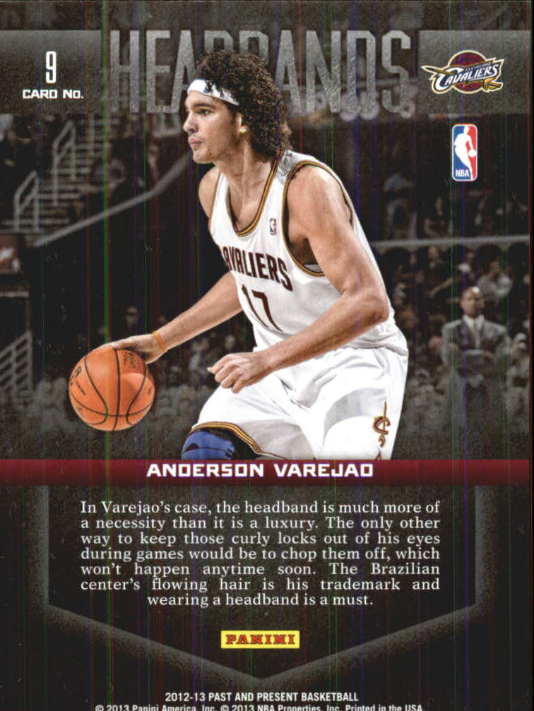 2012-13 Panini Past and Present Headbands #9 Anderson Varejao back image