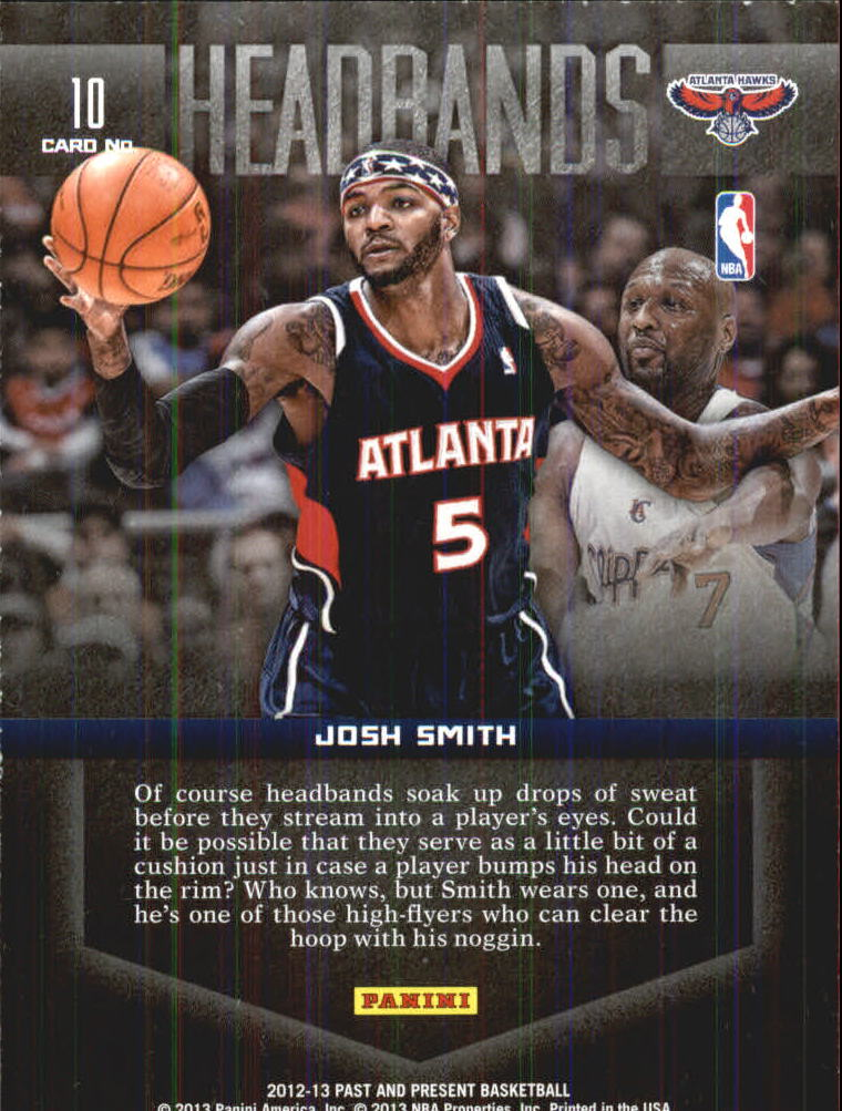 2012-13 Panini Past and Present Headbands #10 Josh Smith back image