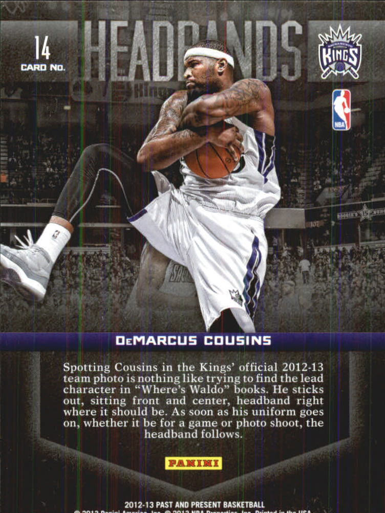 2012-13 Panini Past and Present Headbands #14 DeMarcus Cousins back image