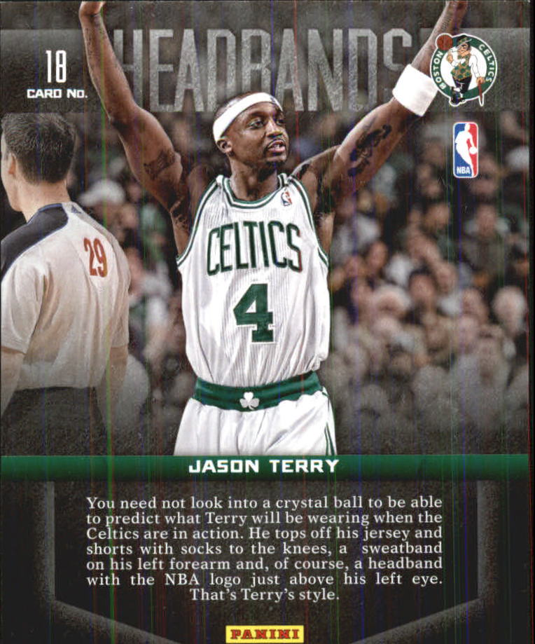 2012-13 Panini Past and Present Headbands #18 Jason Terry back image