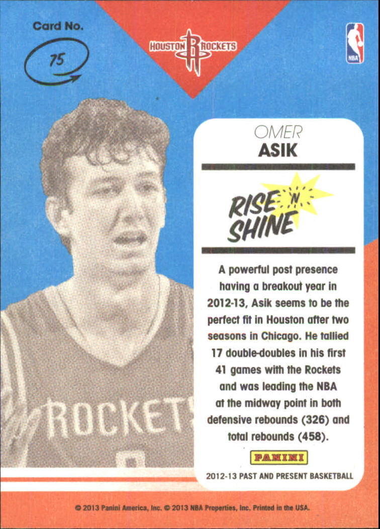 2012-13 Panini Past and Present Rise N Shine #75 Omer Asik