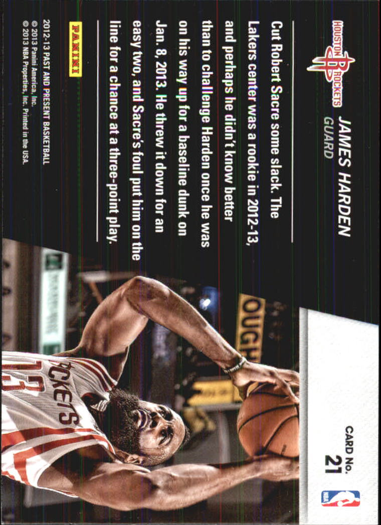2012-13 Panini Past and Present Shattered #21 James Harden