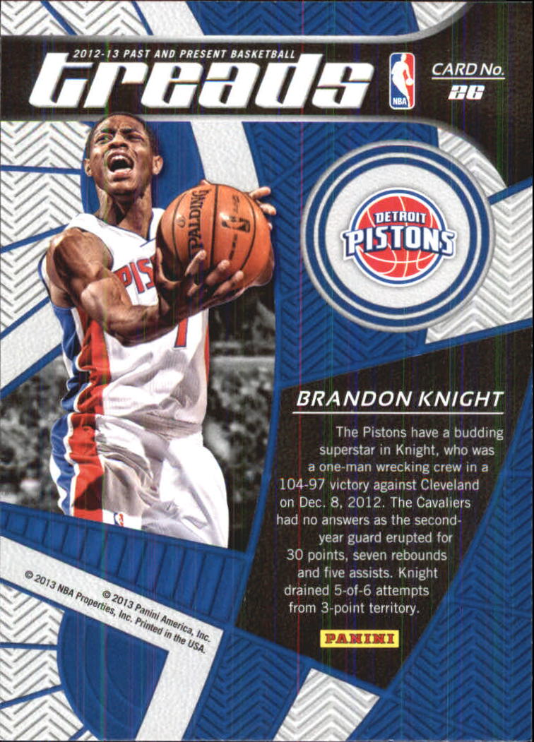 2012-13 Panini Past and Present Treads #26 Brandon Knight