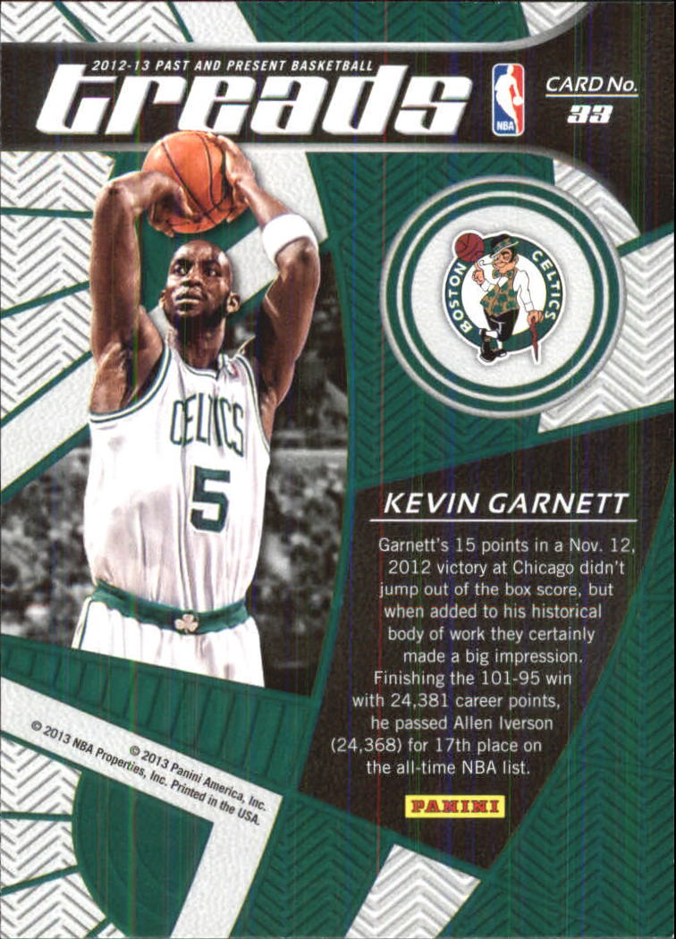 2012-13 Panini Past and Present Treads #33 Kevin Garnett