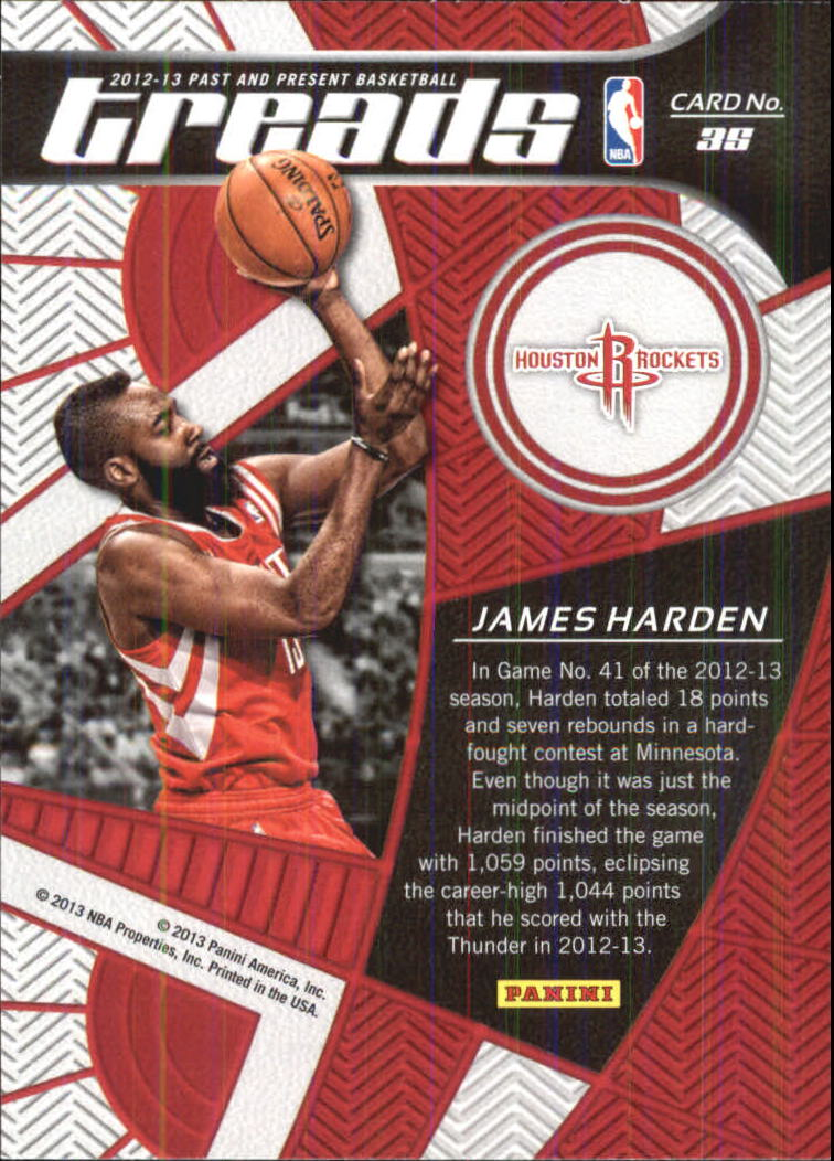 2012-13 Panini Past and Present Treads #35 James Harden