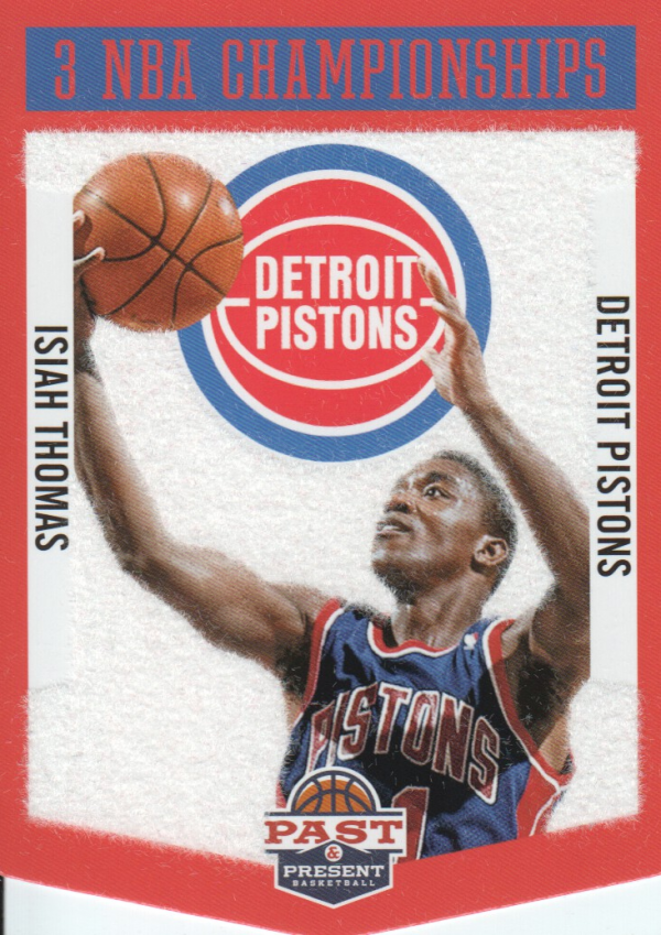 2012-13 Panini Past and Present Championship Banners #6 Isiah Thomas