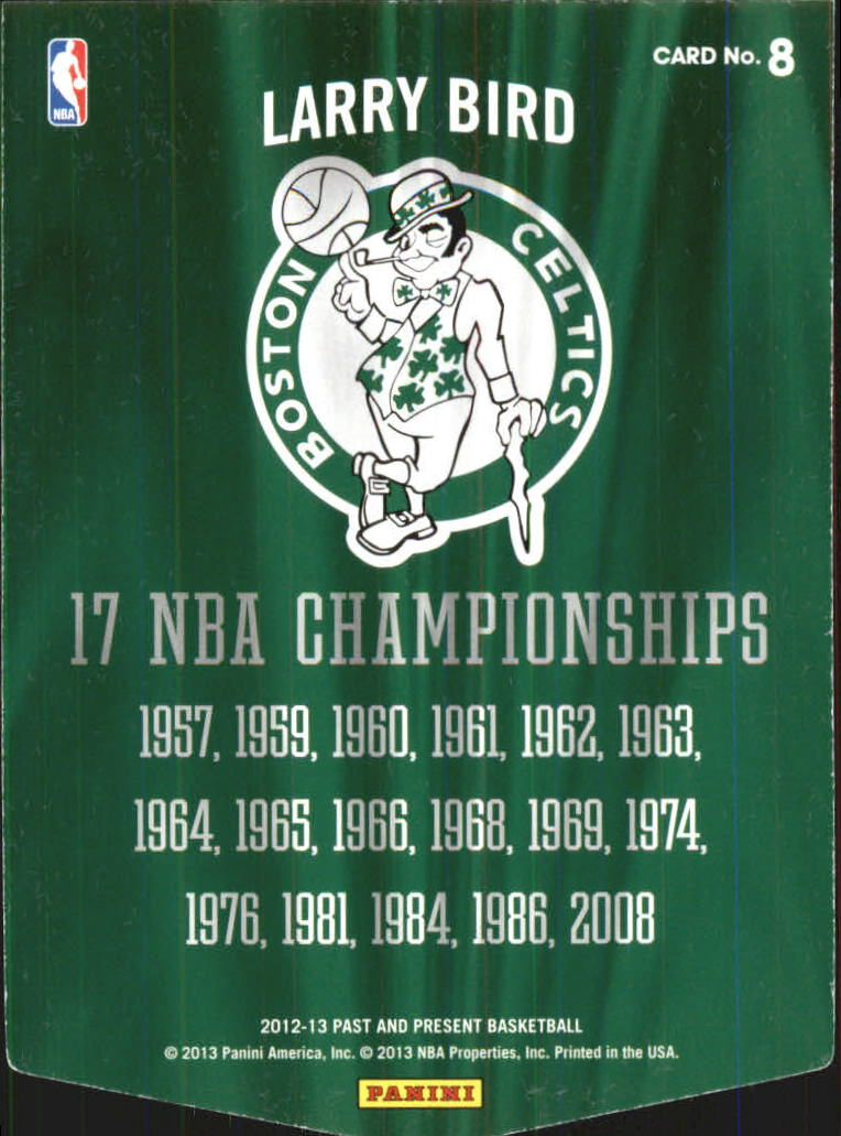 2012-13 Panini Past and Present Championship Banners #8 Larry Bird