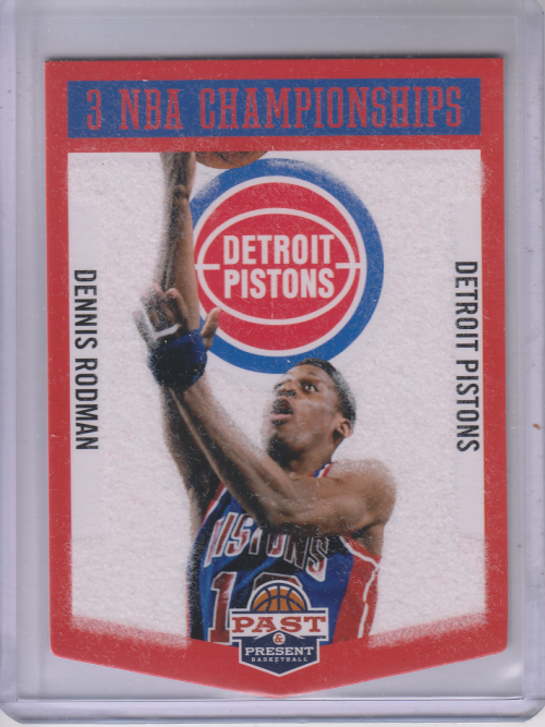 2012-13 Panini Past and Present Championship Banners #10 Dennis Rodman
