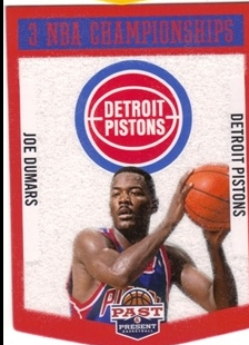 2012-13 Panini Past and Present Championship Banners #18 Joe Dumars
