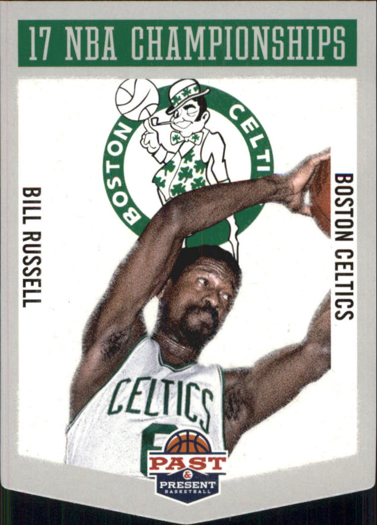 2012-13 Panini Past and Present Championship Banners #19 Bill Russell