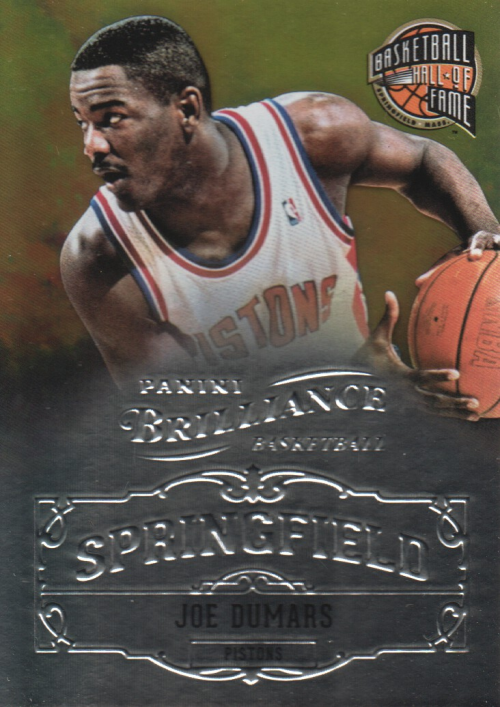 2012-13 Panini Brilliance Springfield #22 Joe Dumars