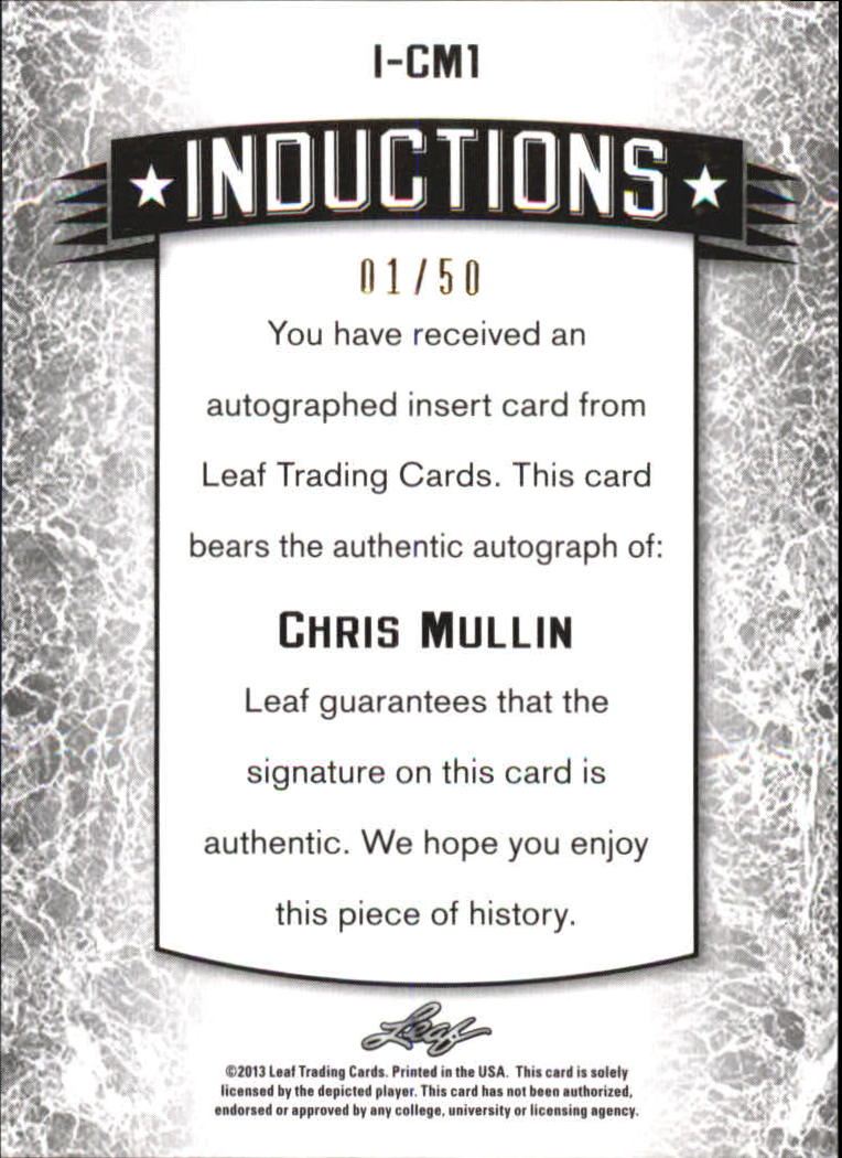 2012-13 Leaf Metal Inductions Holo #ICM1 Chris Mullin