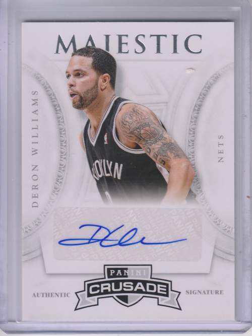 2012-13 Panini Crusade Majestic Signatures #5 Deron Williams