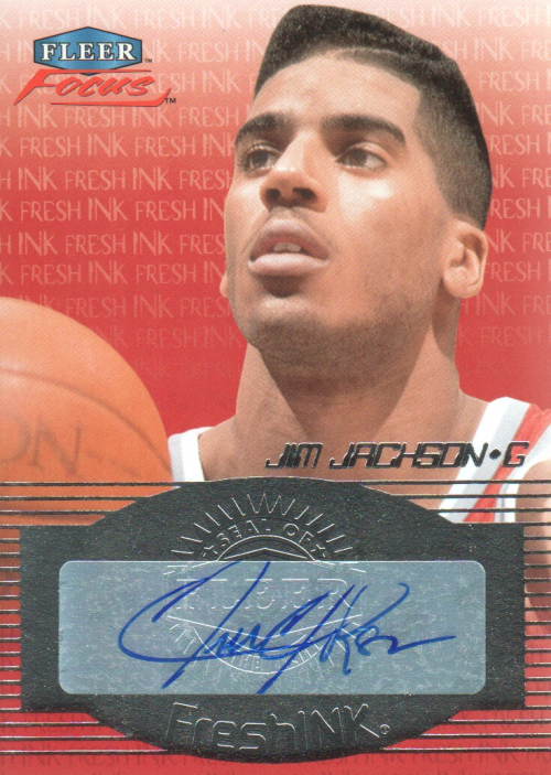2012-13 Fleer Retro 99-00 Focus Fresh Ink #FFIJJ Jim Jackson E