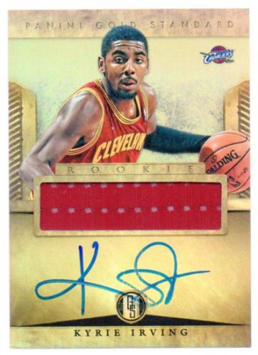 2012-13 Panini Gold Standard #227 Kyrie Irving JSY AU RC