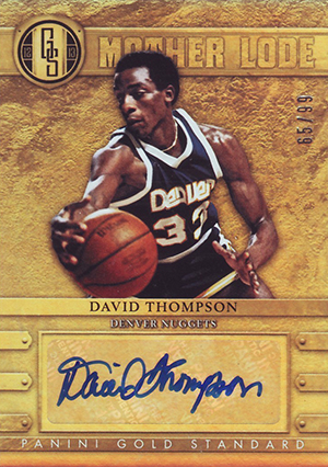 2012-13 Panini Gold Standard Mother Lode Autographs #36 David Thompson/99