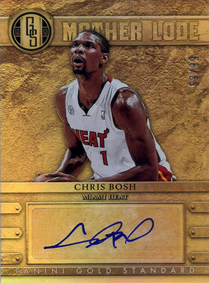 2012-13 Panini Gold Standard Mother Lode Autographs #40 Chris Bosh/99