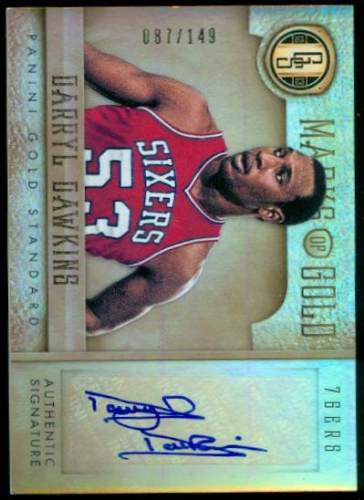 2012-13 Panini Gold Standard Marks of Gold Autographs #8 Darryl Dawkins/149