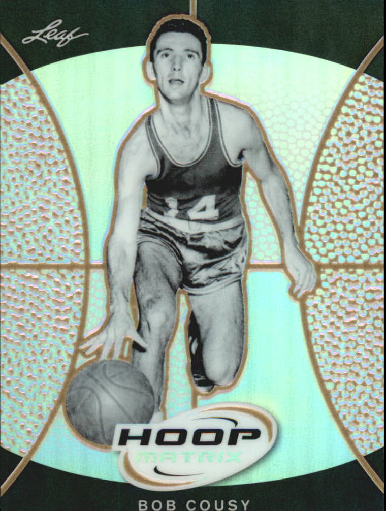 2012-13 Leaf Metal Hoop Matrix Gold #HMBC1 Bob Cousy