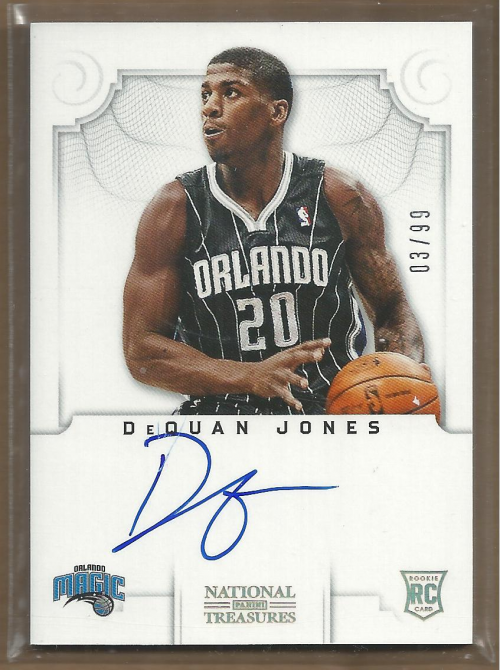 2012-13 Panini National Treasures #135 DeQuan Jones AU/99 RC