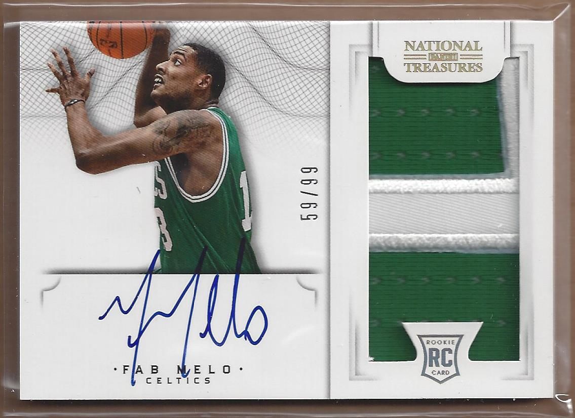2012-13 Panini National Treasures #172 Fab Melo JSY AU/99 RC