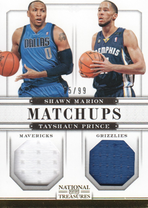 2012-13 Panini National Treasures Matchups Materials #46 Shawn Marion/99/Tayshaun Prince