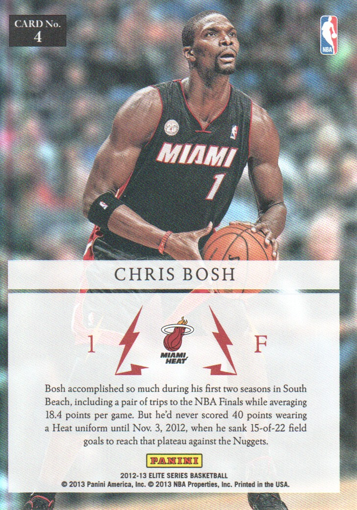 2012-13 Elite Series Electrifying #4 Chris Bosh