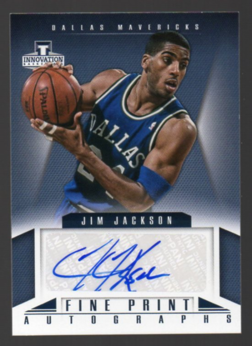 2012-13 Innovation Fine Print Autographs #30 Jim Jackson