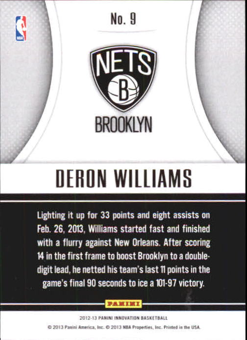 2012-13 Innovation Passing Grade #9 Deron Williams