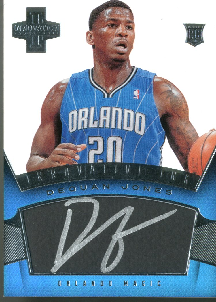 2012-13 Innovation Rookie Innovative Ink #46 DeQuan Jones