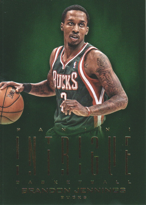 2012-13 Panini Intrigue #25 Brandon Jennings