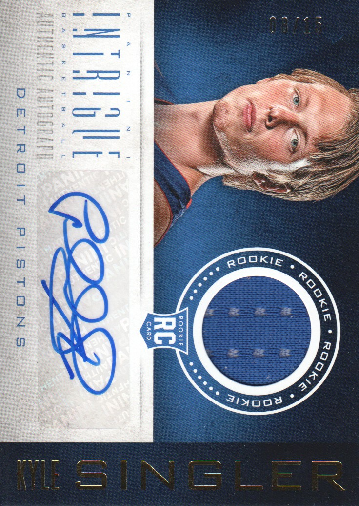 2012-13 Panini Intrigue #105 Kyle Singler JSY AU/15 RC