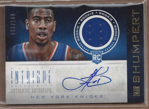 2012-13 Panini Intrigue #119 Damian Lillard JSY AU/49