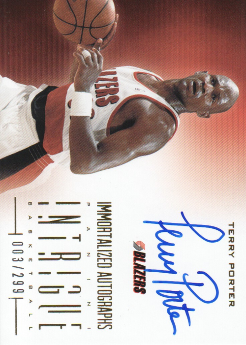 2012-13 Panini Intrigue Immortalized Autographs #5 Terry Porter/299