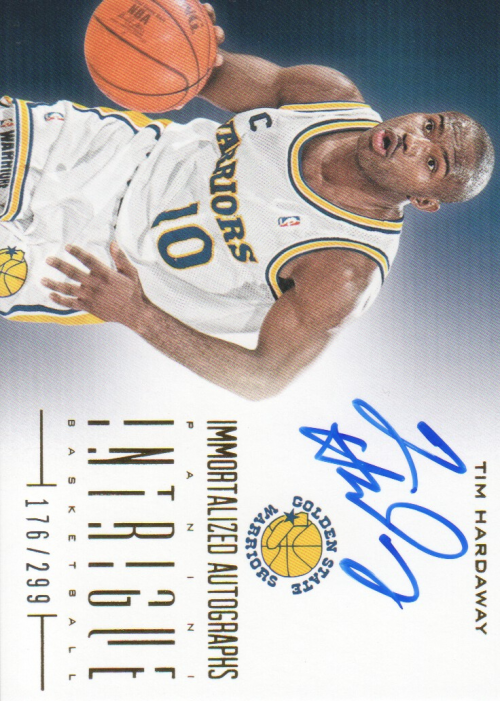 2012-13 Panini Intrigue Immortalized Autographs #18 Tim Hardaway/299