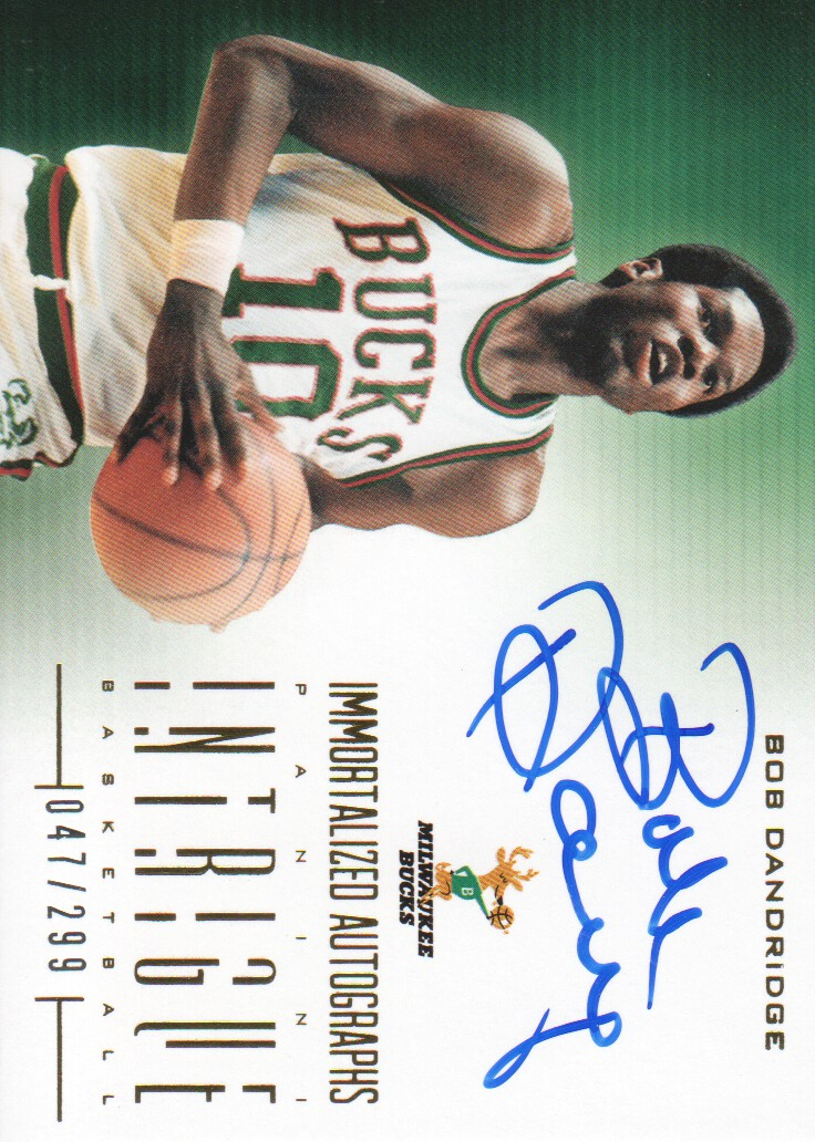 2012-13 Panini Intrigue Immortalized Autographs #51 Bob Dandridge/299