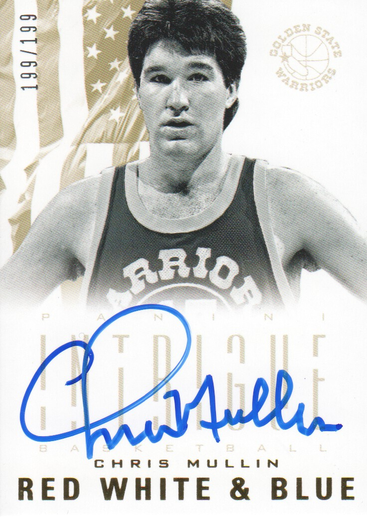 2012-13 Panini Intrigue Red White and Blue Autographs #22 Chris Mullin/199