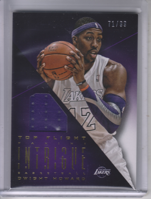 2012-13 Panini Intrigue Top Flight Unis #1 Dwight Howard/99