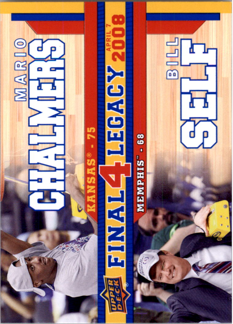 2013 Upper Deck Kansas Final 4 Legacy Duos #F4D5 Mario Chalmers/Bill Self