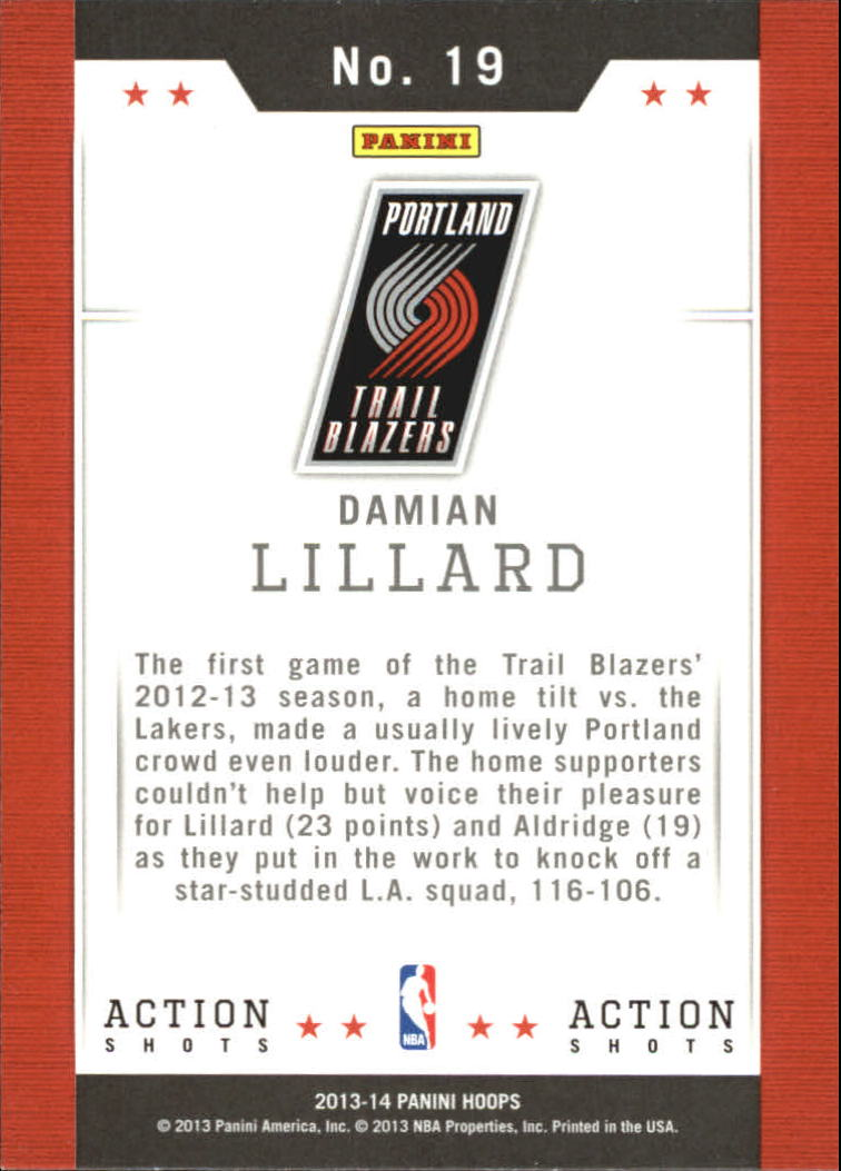 2013-14 Hoops Action Shots #19 Damian Lillard