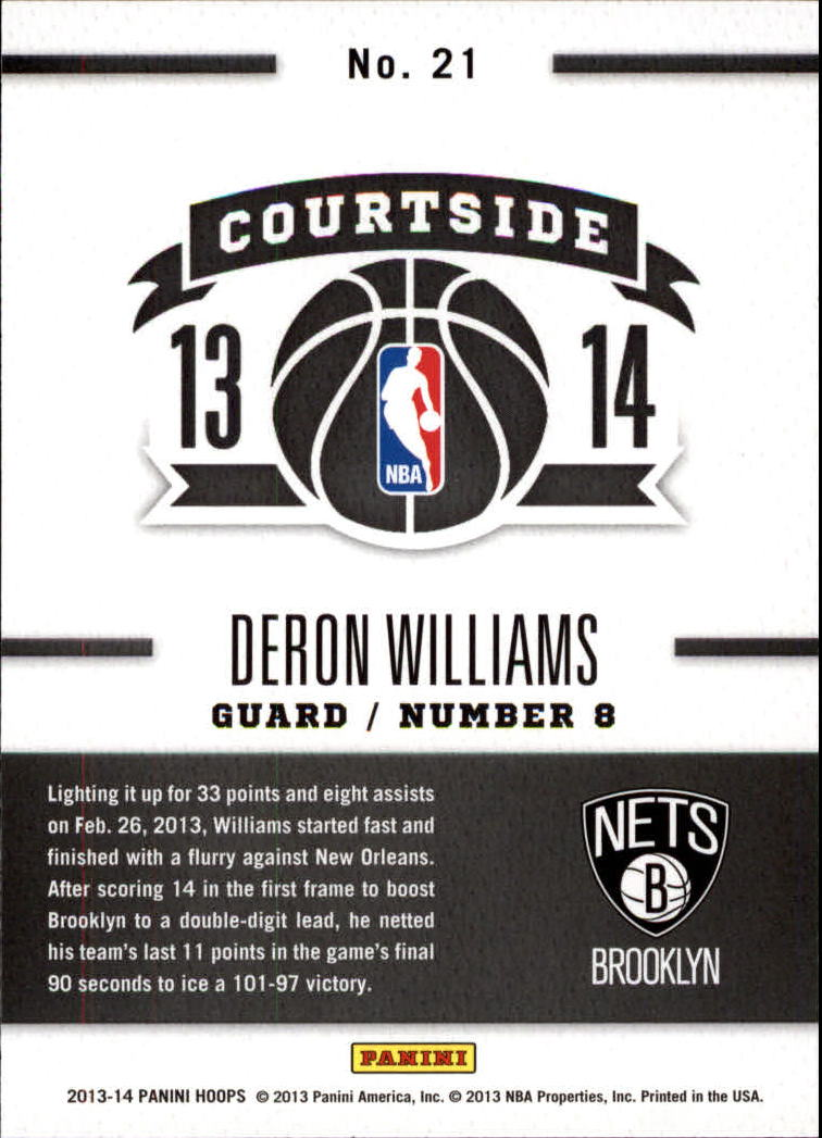 2013-14 Hoops Courtside #21 Deron Williams