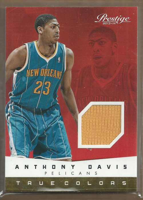 2013-14 Prestige True Colors Materials #75 Anthony Davis