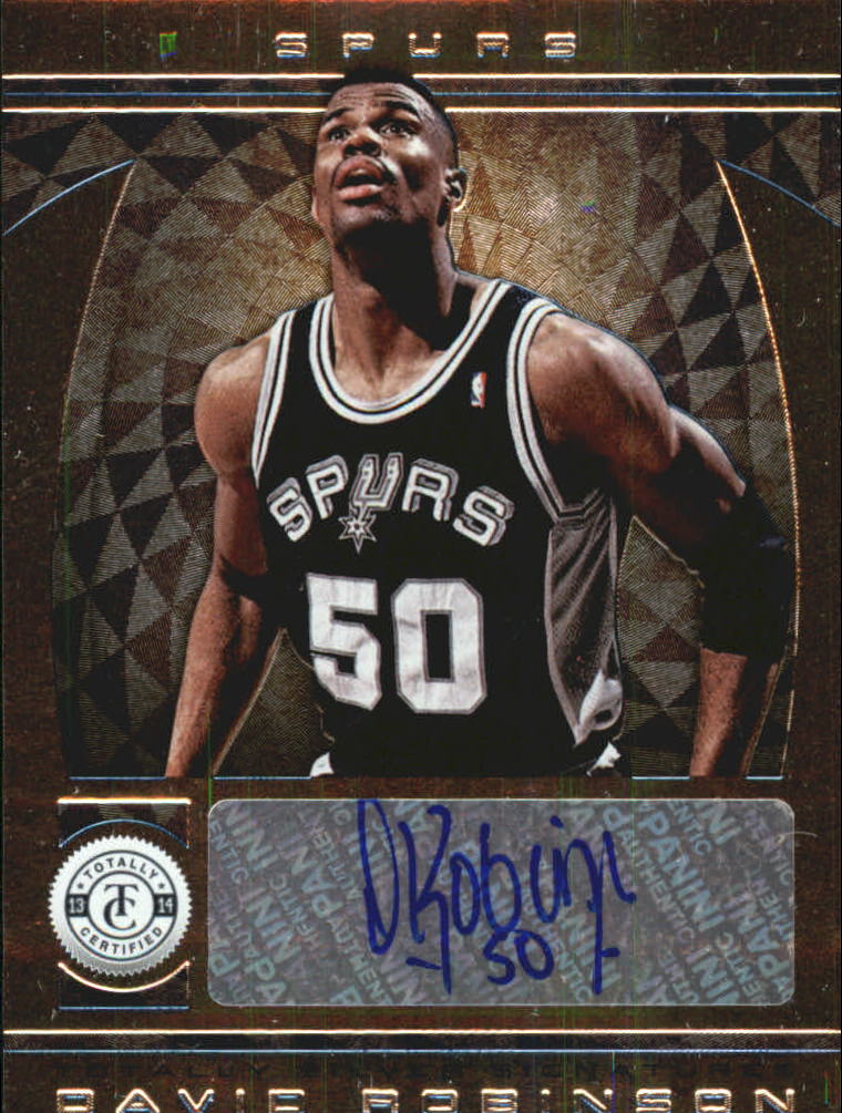 2013-14 Totally Certified Autographs #61 David Robinson