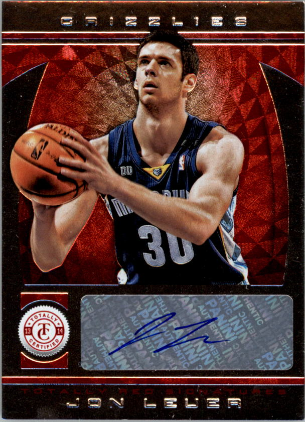 2013-14 Totally Certified Autographs Red #238 Jon Leuer/99