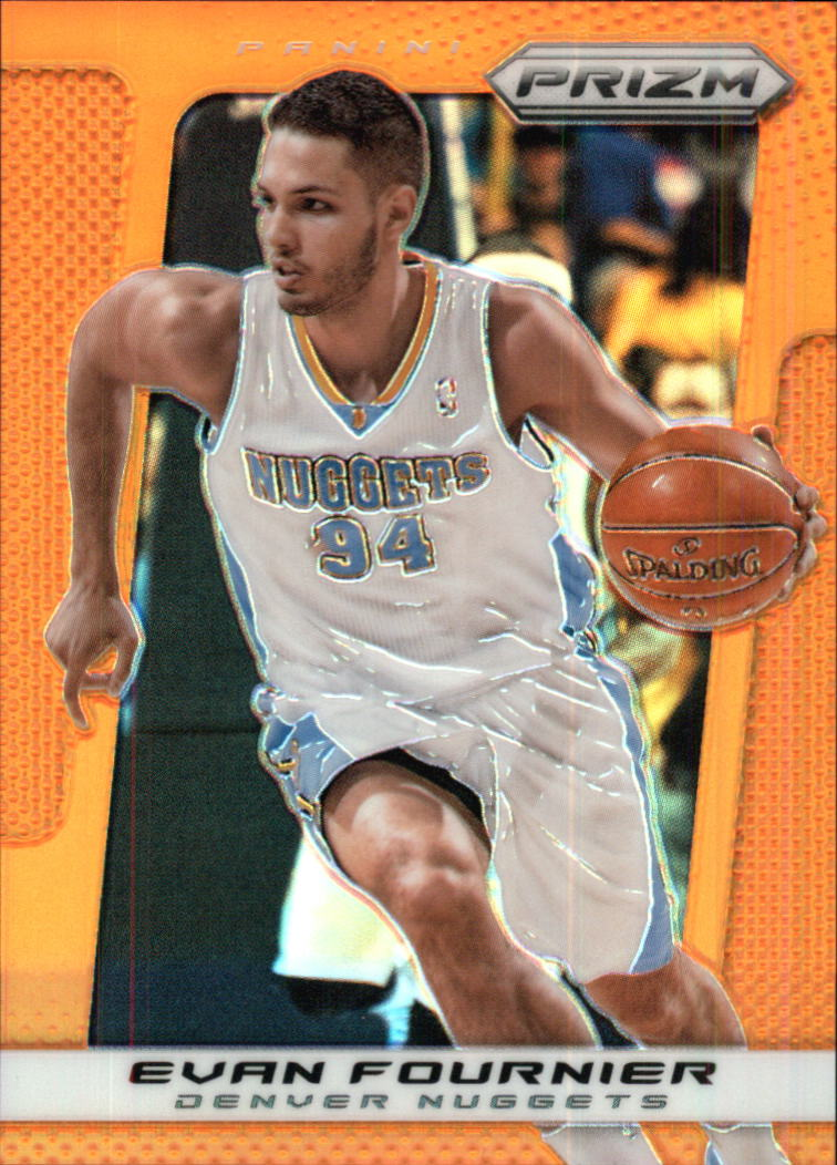 2013-14 Panini Prizm Prizms Orange #115 Evan Fournier
